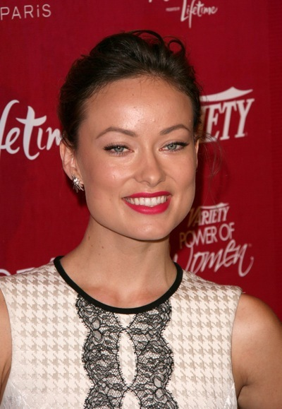 Olivia Wilde with red lips