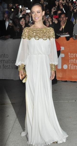 Olivia Wilde in white