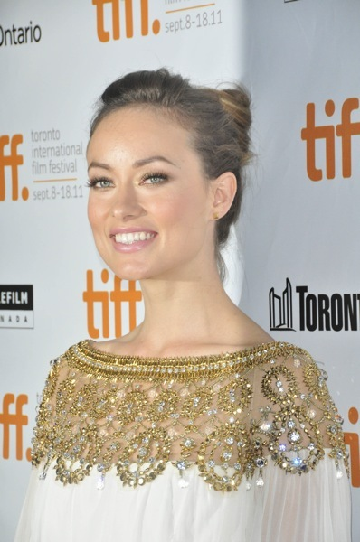 Olivia Wilde with an updo