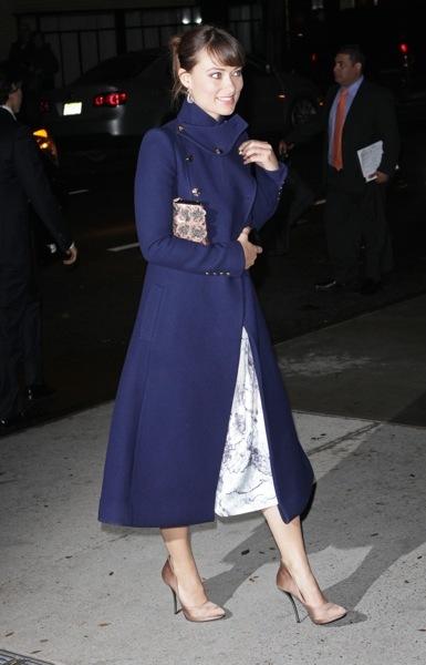 Olivia Wilde in maxi coat