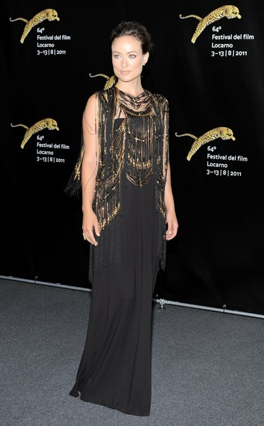Olivia wilde with gold accents