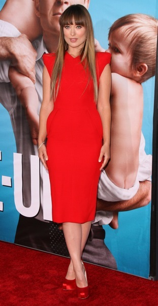 Olivia Wilde in red dress