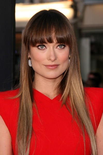 Olivia Wilde with straight hair
