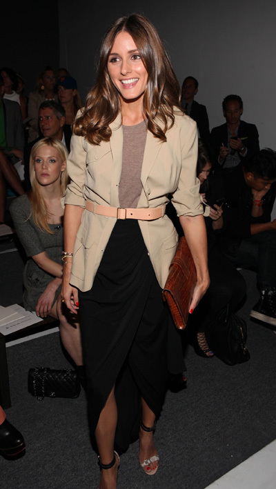Olivia Palermo sits front row at Rachel Zoe