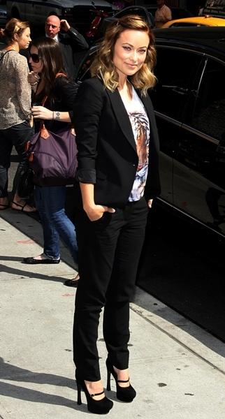 Olivia Wilde at David Letterman