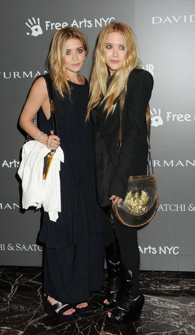 Ashley and Mary-Kate Olsen attend the Free Arts NYC 12th Annual Art Auction in Nyc. Photo courtesy of L. Gallo/WENN.
