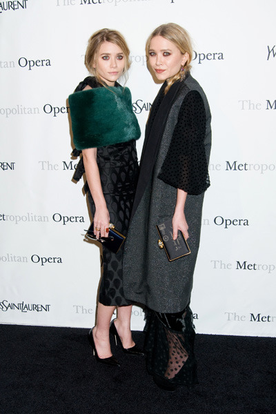 Ashley and Mary-Kate Olsen at the Opera