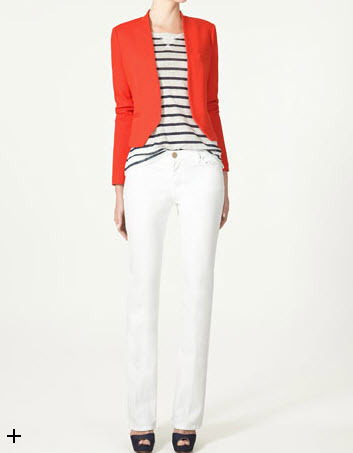 This fire orange cardigan from Zara is the perfect fall style staple.
