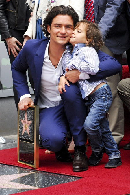 Orlando Bloom and son