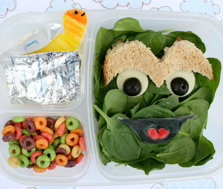 Oscar The Grouch bento box lunch