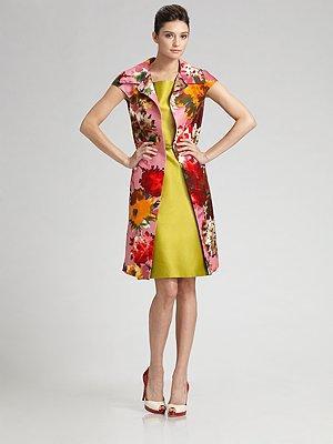 Oscar de la Renta Floral Coat
