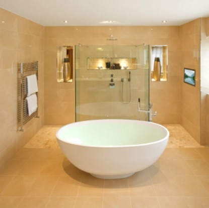 Home Decorating on Oval Tub   Luxury Bathrooms