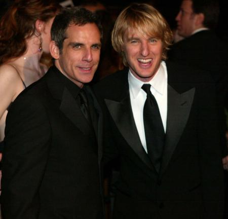 Owen Wilson and Ben Stiller appear at an internation Starsky and Hutch premiere