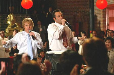Owen Wilson and Vince Vaughn singing