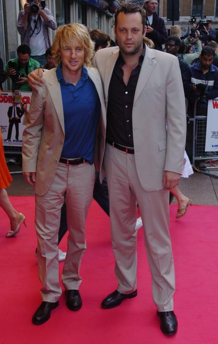 Owen Wilson and Vince Vaughn on the red carpet