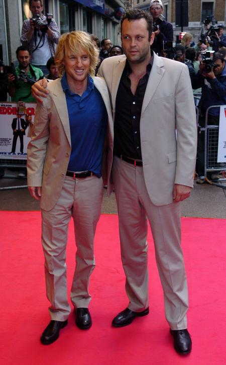 Owen Wilson and Vince Vaughn at premiere of Wedding Crashers