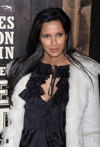 Padma Lakshmi's long, straight hairstyle