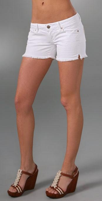 White Cut Off Denim Shorts - The Else