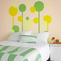 Paint a headboard right on the wall.