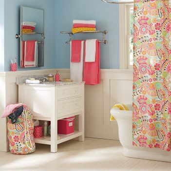 Paisley Teen Bathroom - Bathroom decorating ideas