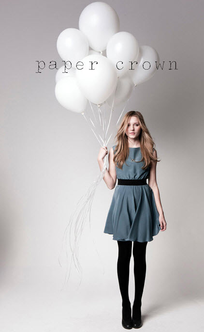 Paper Crown Emma Dress in blue