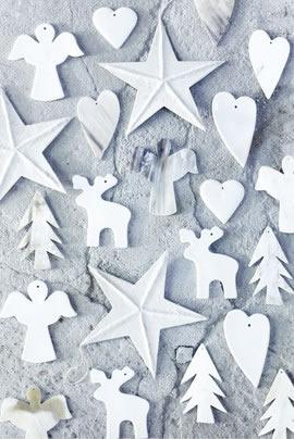Simple white paper ornaments