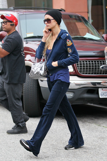 Paris Hilton dresses down for a doctors appointment