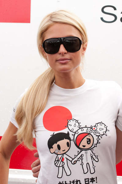 Paris Hilton's long, ponytail hairstyle