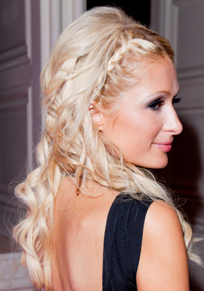 Paris Hilton's braided headband hairstyle