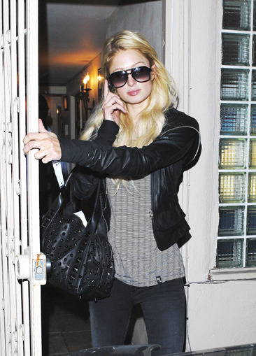 Paris Hilton leaves a pain relief center in West Hollywood