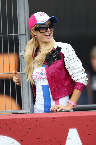 Paris Hilton at MotoGP in Spain