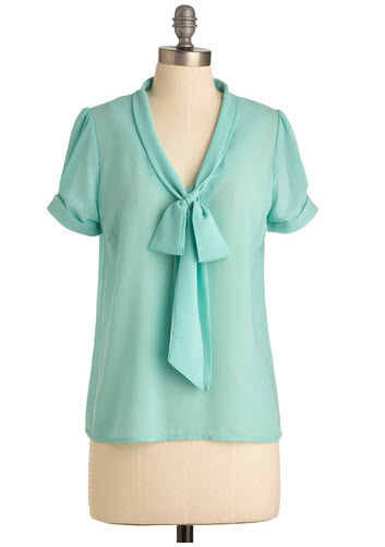 Delectable Cool Mint Blouse