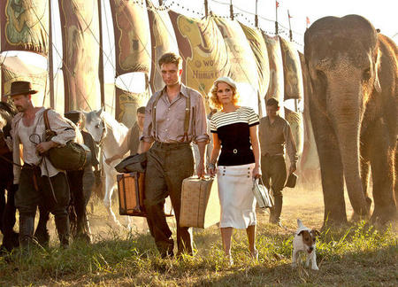 Robert Pattinson with Reese in Water for Elephants