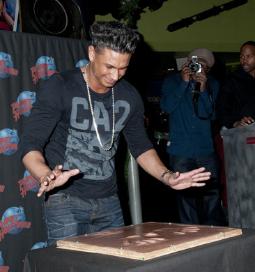 Pauly D at his handprint ceremony in NYC