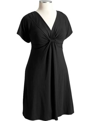 Gathered-Front Jersey Dress