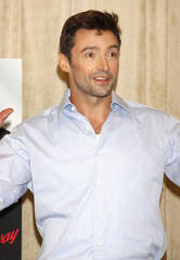 Hugh Jackman at a press event for his musical show at Pearl Studios in New York City