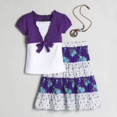 Peasant skirt set