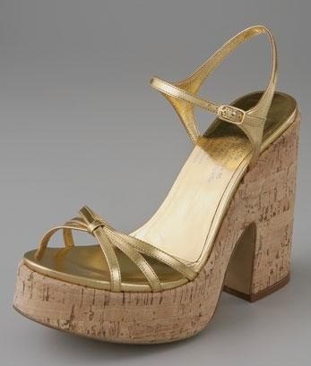 Pedro Garcia Strappy Cork Platform Sandals
