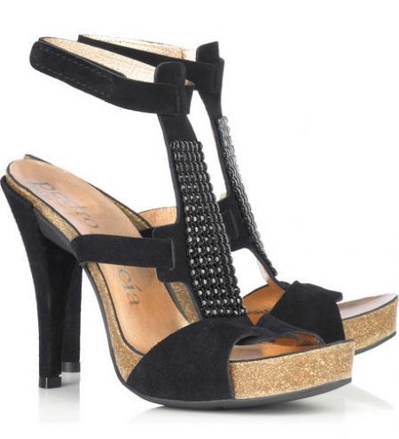 Pedro Garcia Suede T-Bar Sandals