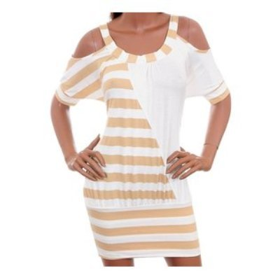 Neutral Striped Dress