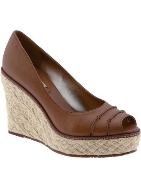 Peep-toe Espadrille Wedge