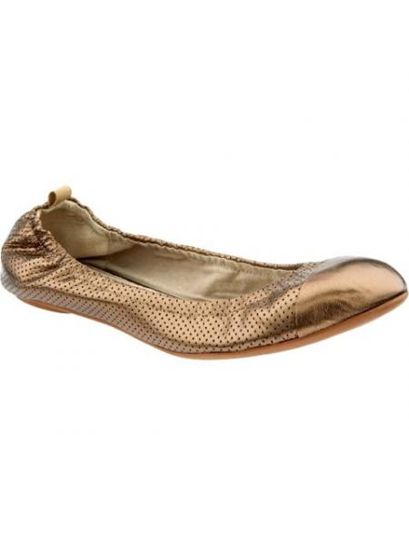 Perforated Leather Ballet Flat