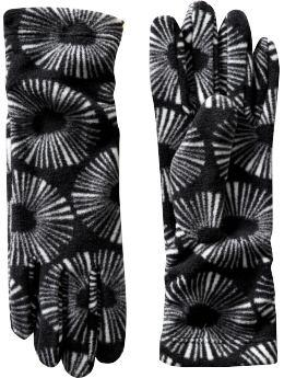 Performance Fleece gloves in black print