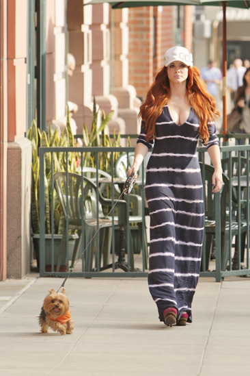 Phoebe Price walks her dog