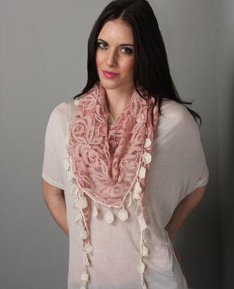 Pink Swoon Scarf