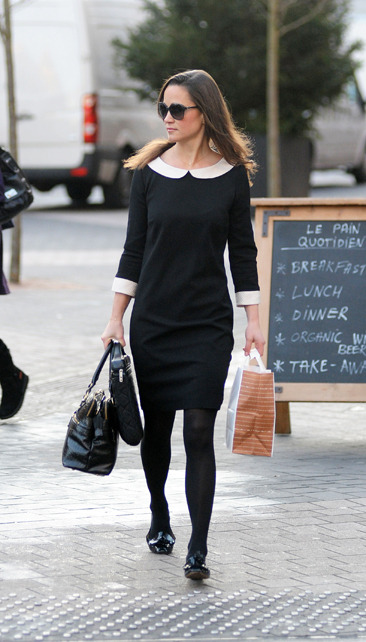 Pippa Middleton looks sophistcated on her way to work