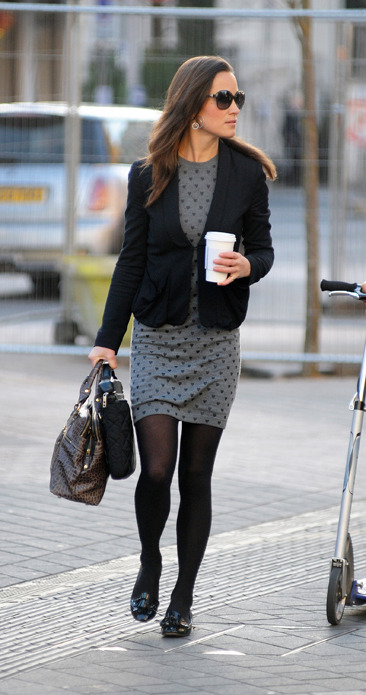 Pippa Middleton stylishly arrives at work