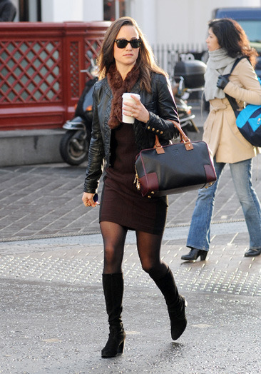 Pippa Middleton making her way to work