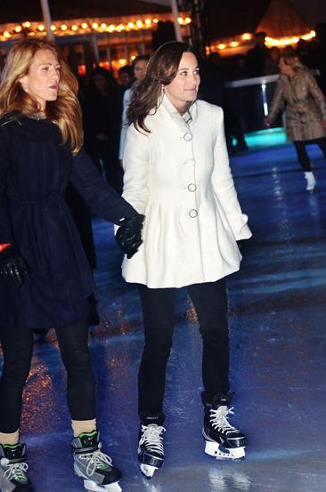 Pippa Middleton ice skating in London