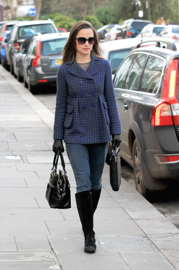 Pippa Middleton walking to work in West London
